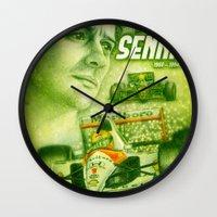 senna Wall Clocks featuring Ayrton Senna Tribute by TheToonPlanet