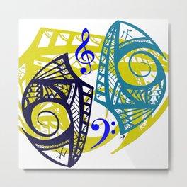 Tribal Musical  Metal Print