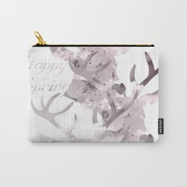 Happy Spring Reindeer Carry-All Pouch