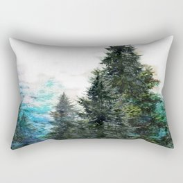 GREEN MOUNTAIN PINES LANDSCAPE Rectangular Pillow