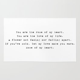 You are the rose of my heart - Lyrics collection Rug