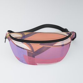 Retro Vintage Geometrical Pattern Design, Art in Colors Fanny Pack