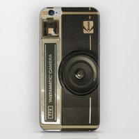 vintage camera iPhone & iPod Skins featuring CAMERA by Monika Strigel