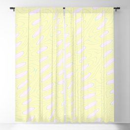 Geo Flow Yellow Pink Blackout Curtain