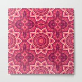 Gemstone Kaleidoscope  Mandala Metal Print