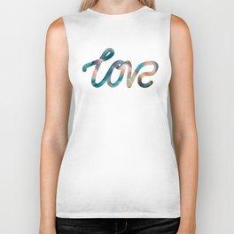 "The Love Series #10 - ""Love"" (typography) Biker Tank"