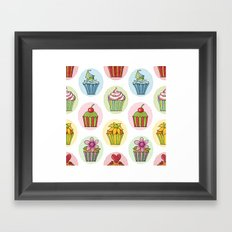 Quirky Cupcakes Framed Art Print