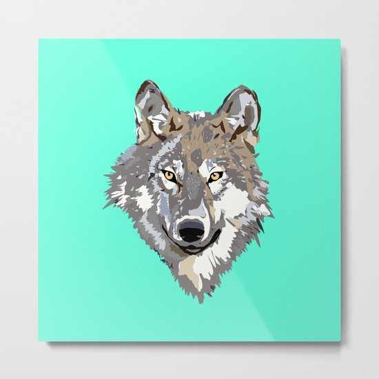 Wolf Face Metal Print