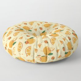 Memphis Orange Floor Pillow