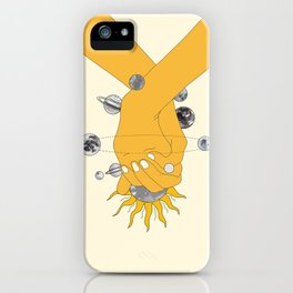 Everything Revolves Around Us iPhone Case