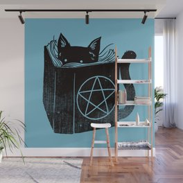 WITCHCRAFT CAT (Blue) Wall Mural