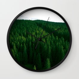 Parting the forest Wall Clock