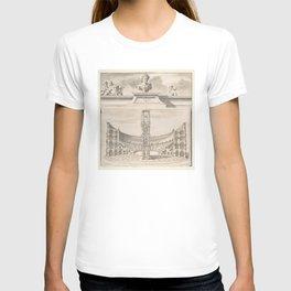 Vintage Roman Colosseum Illustrative Diagram T-shirt