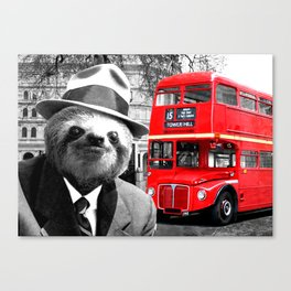 Sloth in London Canvas Print