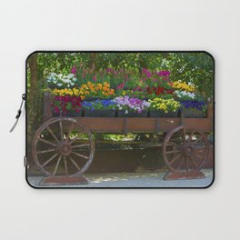Spring Flowers in Cart Laptop Sleeve