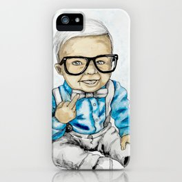 Naughty Boy by carographic iPhone Case