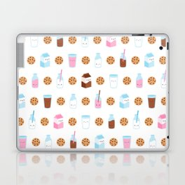 Milk and Cookies Pattern on White Laptop & iPad Skin
