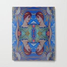 Minerva Goddess Of Wisdom Surreal Pop Art 1 Metal Print