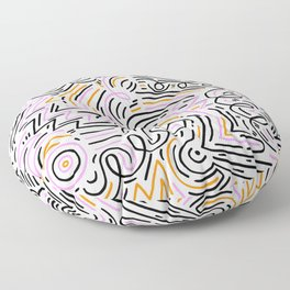 squiggle wiggles Floor Pillow