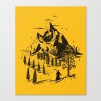home sweet home Canvas Prints featuring Home! Sweet Home! by nicebleed