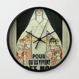 Vintage poster - Musee des Instruments de Medecine Wall Clock
