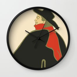 Bruant in his cabaret retro vintage Wall Clock