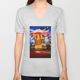 English Beer In A London Pub Unisex V-Neck