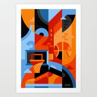 basketball Art Prints featuring Basketball by koivo