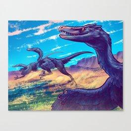 Velociraptor Pack Canvas Print