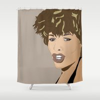tina crespo Shower Curtains featuring Simply the Best Tina T by Mike Thomas Portraiture