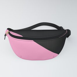 Just two colors 1: pink and black Fanny Pack