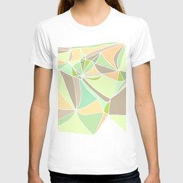 Pastel mosaic  Abstract artwork  Mint peach beige T-shirt