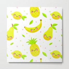 smile fruits Metal Print