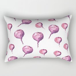 Pattern design with beets Rectangular Pillow