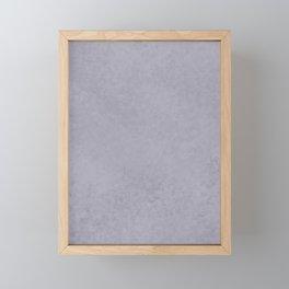 Pantone Lilac Gray, Liquid Hues, Abstract Fluid Art Design Framed Mini Art Print