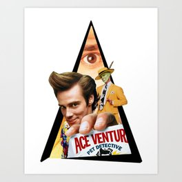Youtriangle ∆ Jim Carrey Art Print