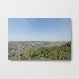 Scenic Rhine Valley Metal Print