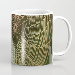 Spider Web and Morning Mist Coffee Mug