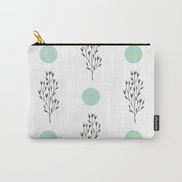Black brunches & green dots pattern Carry-All Pouch