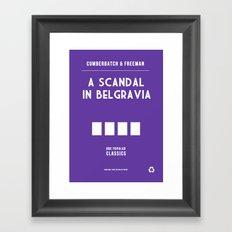 BBC Sherlock A Scandal in Belgravia Minimalist Poster Framed Art Print