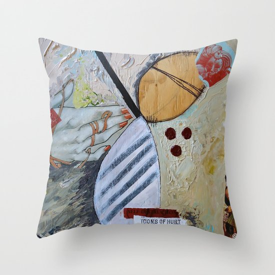 Icons of Hurt Throw Pillow
