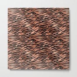 Copper and black metal tiger skin Metal Print