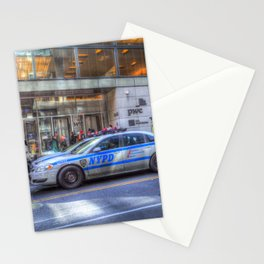 New York police Department Cars Stationery Cards