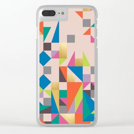 80s Quilt Clear iPhone Case