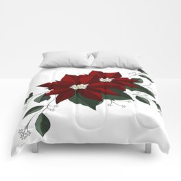 Nochebuena Poinsettia Comforters