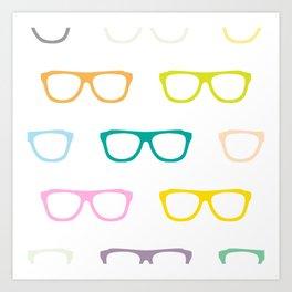 Colorful Specs Art Print