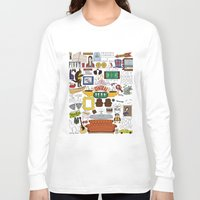 collage Long Sleeve T-shirts featuring Collage by Loverly Prints