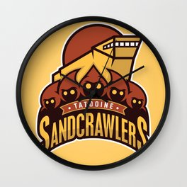 Tatooine SandCrawlers - Gold Wall Clock