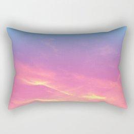 Pink Golden Skies Rectangular Pillow