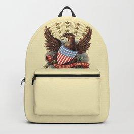 E pluribus unum - Out of many, one - vintage United States Bald Eagle hand drawn illustration Backpack